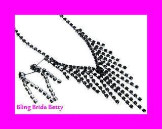 black bridal jewelry set in Bridal & Wedding Party Jewelry
