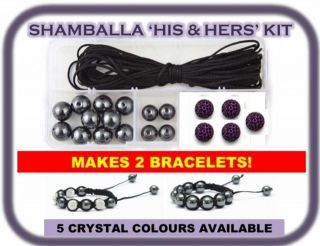 Clay Pave Crystal Shamballa Bracelet Making Kit inc Instructions