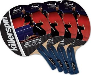 Killerspin Table Tennis Racket Jet Set   4 Paddles 6 Balls