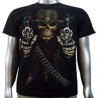 Colt Revolver Pistol Gun Glow In Dark Ink Tattoo Men T shirt Size L