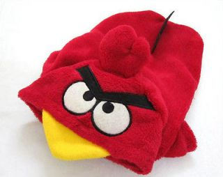 Pet Dog Cat Angry Birds Costume Hoodie Clothes XS S M L XL XXL   Red