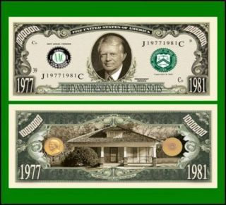 Jimmy Carter in Coins & Paper Money