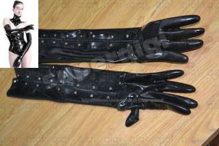 latex rubber glove 0 8mm suit catsuit black heavy wear