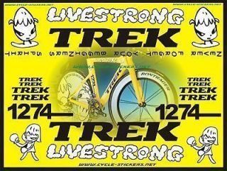 trek lance armstrong race set sticker set nara time left