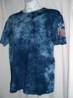 HYBRID CUSTOM U.S.A. AMERICAN FLAG PLUS SZ XL 1X T~SHIRT TATTOO SLEEVE