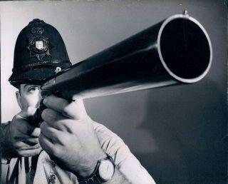 1960 Nat. Police Museum Hall Fame Jerry Arenberg Helmet Riot Gun Wire