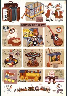 1956 57 AD Mickey Mouse Club Toys Record Player Guitar Rhythm Band
