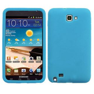 BABY BLUE SOLID SKIN SILICON CASE Cover SAMSUNG GALAXY NOTE I717 I9220