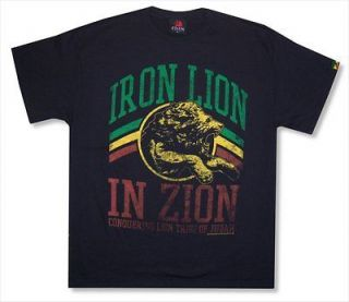 ZION ROOTSWEAR   DISTRESSED LION BOB MARLEY T SHIRT   NEW ADULT X
