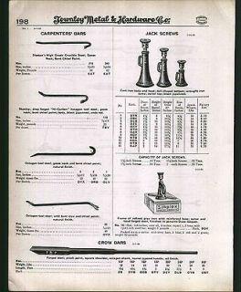 1930 ad Simplex Locomotive Screw Jack Box Railroad Track Tools Mauls