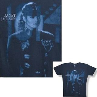 JANET JACKSON RHYTHM NATION BLACK T SHIRT LARGE NEW