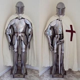 English Grand Master Knights Templar Full Suit Of Armour   Authentic