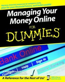 Money Online for Dummies by Kathleen Sindell 2004, Paperback