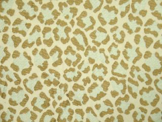 Spa blue Leopard Animal Print Woven Upholstery Drapery Fabric