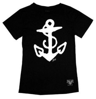 Sailor Jerry Anchor Tattoo Artist Black Soft Juniors Babydoll T Shirt