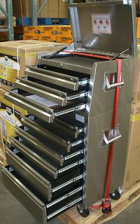 DURO 26 9 DRAWER STAINLESS STEEL TOOLBOX ON WHEELS W SNAP SHUT