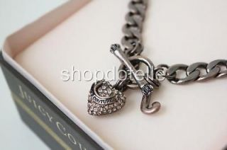 new juicy couture pave rose gold starter charm necklace expedited