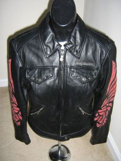 womens harley davidson leather jacket in Womens Clothing