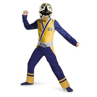 Samurai GOLD Ranger Costume L 10 12 Boys Child Kid Halloween Light