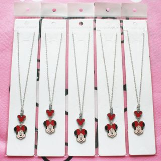 Disney Minnie Mouse Charms Girls Necklaces Birthday Party Favors Gifts