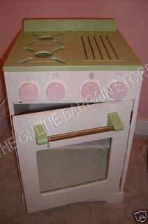 Barn Kids Lil Prep Little Kitchen STOVE OVEN Cabinet Pink Pretend Play