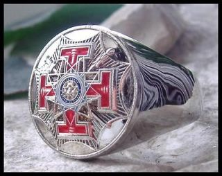 US SIZE 12.5   33rd DEGREE CHAPTER LODGE MASONIC MASON RING STEEL