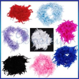 2m Black Feather Boa Fluffy Decoration Halloween Costume Party Favor