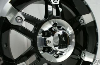 17 x 9 inch black kmc xd series spy wheels