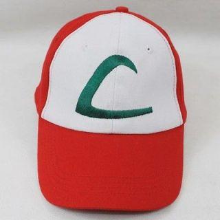 pokemon satoshi ash ketchum baseball cap hat cosplay from china