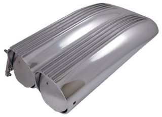 polished aluminum hood air scoop shotgun style
