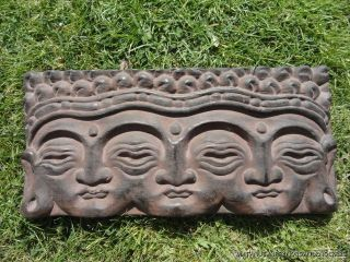 BEAUTIFUL CARVED WOODEN BUDDHA HEAD GARDEN FEATURE ORNAMENT KOI POND 9