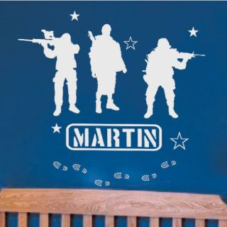 name military army soldiers vinyl wall decals art 039 time