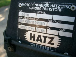 hatz diesel engine 20hp 2 cylinder power pack returns not