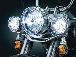 Kuryakyn 7750 L.E.D. Halo Headlight Trim Ring LED for 1994 2012 Harley