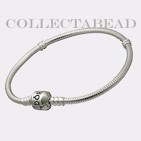 authentic pandora silver bracelet with pandora lock 7 5 returns