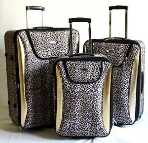 Pc Luggage Set Travel Bag Rolling Upright Expandable Wheel Gold