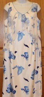 jacques vert white print sleeveless dress woman s 12