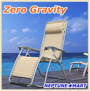 zero gravity folding lounge chair leisure recliner beige returns