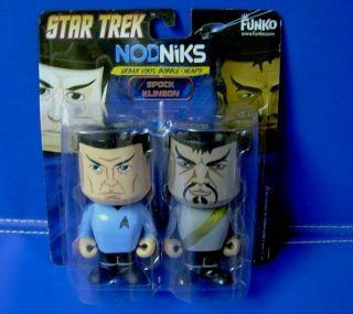 star trek spock klingon nodnikes vinyl bobble head n returns