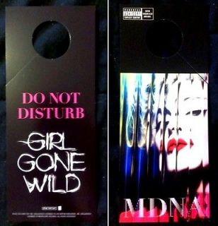Madonna MDNA Rare Promo GIRL GONE WILD Do Not Disturb door hanger