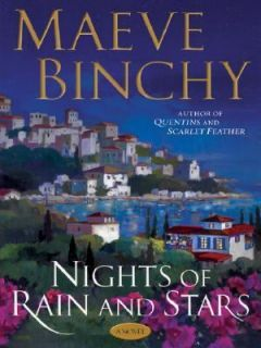 Nights of Rain and Stars by Maeve Binchy 2005, Hardcover, Large Type
