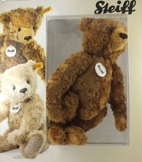 Brand New STEIFF George Jointed Plush Teddy Bear   32cm Brown Stuffed