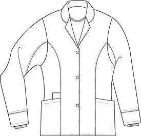 Scrubs Landau Womens Button Front Notch Jacket 4064 Black Buy 3