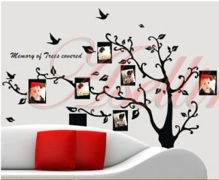 Photo Frames Tree Large DIY Removable Art Vinyl Wall Sticker Decor