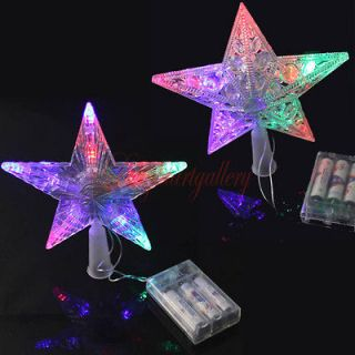 Multi Color Big Star Portable AA Battery Operated Xmas Tree Topper