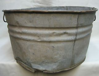 Antique 60Year Old Galvanized Steel Wash Tub ex. Historic winery