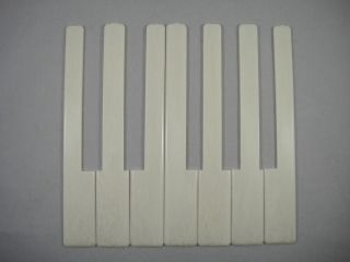 One Octave 7 Keys Simulated Ivory Piano Keytops Replacement Plastic