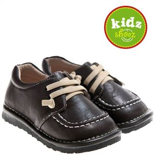 Kids Toddler Childrens Leather Squeaky Shoes   Kickers Style in Brown