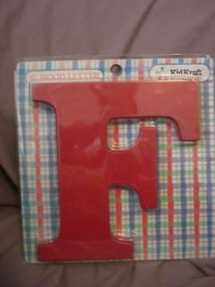 newly listed new red kidkraft wooden letter f time left