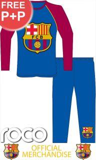 Blue Burgundy Official Barcelona Football Club Kids Pyjamas 3 10yrs